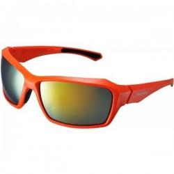 Brýle Shimano S22X oranžová/černá, skla kouřová oranžová zrcadlová