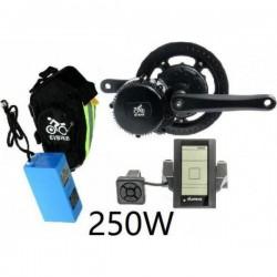 EV Bike středový pohon 250W/36V, baterie pod sedlo komplet sada