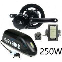EV Bike středový pohon 250W/36V, baterie do rámu komplet sada