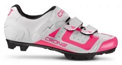 Tretry Crono MTB CX3 Nylon White Pink