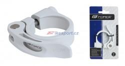 Force sedlová objímka páčková RÚ 31,8  mm (bílá)