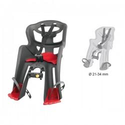 Bellelli přední sedačka TATOO HANDLEFIX (šedá+červené botičky)