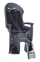 Hamax zadní sedačka SMILEY (tmavě šedá/černá)