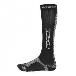 FORCE ponožky ATHLETIC PRO KOMPRES, černo-bílé