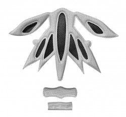FORCE výstelka přilby SCORPIO, šedá UNI