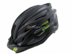Haven TOLTEC black-green - přilba černo-zelená s černým štítkem