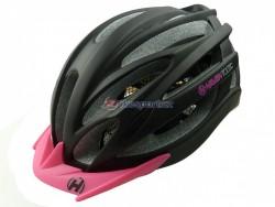Haven TOLTEC black-pink - přilba černo-růžová