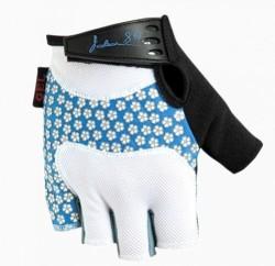 Poledník Eva bílo-modré rukavice dámské