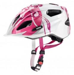 Přilba UVEX 17 Quatro junior pink/silver