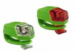 4RACE LS02 set blikaček silicon zelené