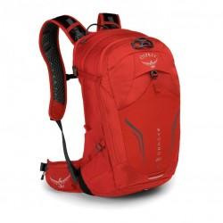 OSPREY SYNCRO 20 batoh + pláštěnka Firebelly Red