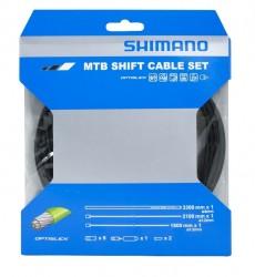 Shimano řadící set MTB bowdeny+lanka  OPTISLICK, černý