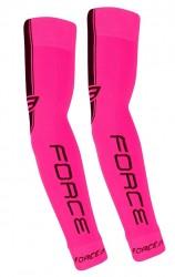 FORCE návleky na ruce pletené, růžové S - M