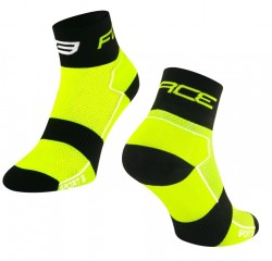 FORCE SPORT 3 ponožky, fluo-černé