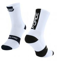 FORCE LONG PRO ponožky, bílo-černé