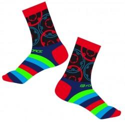 FORCE SPROCKET ponožky, červené
