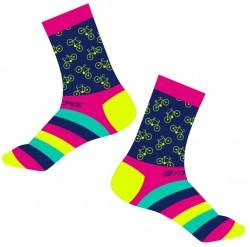 FORCE CYCLE ponožky, růžové