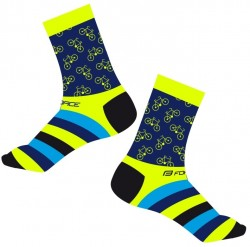 FORCE CYCLE ponožky, žluté