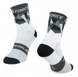 FORCE TRIANGLE ponožky bílo-šedo-černé