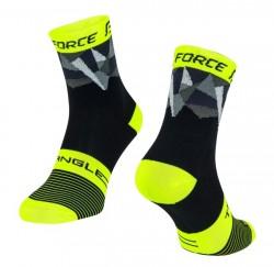 FORCE TRIANGLE ponožky černo-fluo-šedé