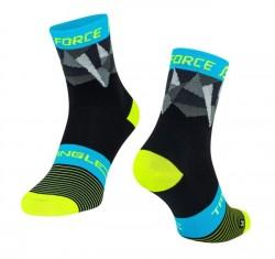 FORCE TRIANGLE ponožky černo-fluo-modré
