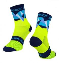 FORCE TRIANGLE ponožky fluo-modré