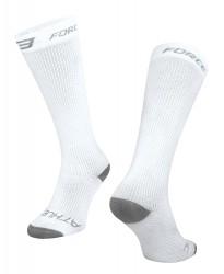 FORCE ATHLETIC KOMPRESNÍ ponožky, bílé