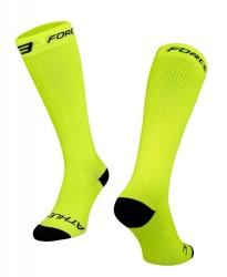 FORCE ATHLETIC KOMPRESNÍ ponožky, fluo