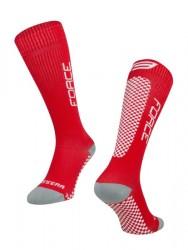 FORCE TESSERA KOMPRESNÍ ponožky, červené