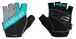 FORCE RIVAL rukavice, černo-tyrkysové