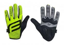 FORCE MTB SPID letní rukavice bez zapínání, fluo