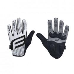 FORCE MTB SPID letní rukavice bez zapínání, bílé