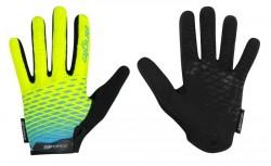 FORCE MTB ANGLE rukavice letní, fluo-modré