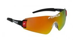 FORCE FLASH brýle, černo-červené, červená laser skla