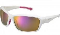Brýle Shimano S22X bílá/Pink, skla kouřová červená