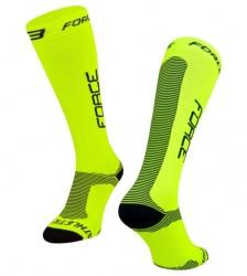 ponožky FORCE ATHLETIC PRO KOMPRES fluo-černé