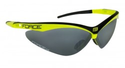 FORCE AIR brýle fluo-černé, černá laser skla