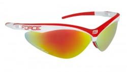 FORCE AIR brýle bílo-červené, červená laser skla