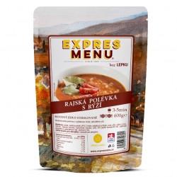 Expres Menu - jídlo na cesty - Rajská polévka s rýží 600g/2porce