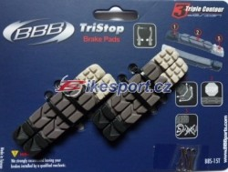 BBB MTB brzdové gumičky 3-barevné (2-páry)