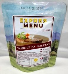 Expres Menu - jídlo na cesty - Vepřová kýta na smetaně 300g/1porce