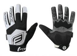 Force rukavice MTB AUTONOMY (bílé)