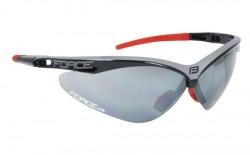 FORCE AIR brýle černo-šedé, černá laser skla