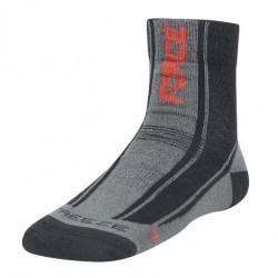 FORCE FREEZE ponožky černo/červené