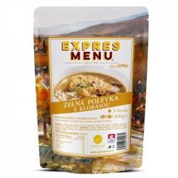 Expres Menu - jídlo na cesty - Zelná polévka s klobásou 600g/2porce