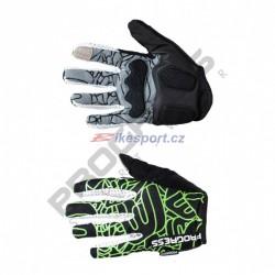 Progress rukavice pánské SPIDER černo/zelené