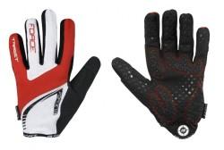 Force rukavice MTB TARGET letní (červeno-bílé)