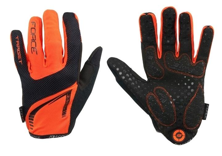 Force rukavice MTB TARGET letní vel.M (oranžové)