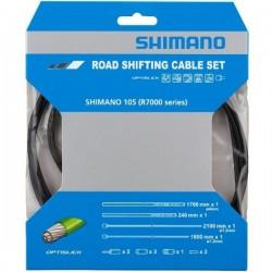 Řadící set bowdenů a lanek Shimano R7000 OPTISLICK ČERNÝ