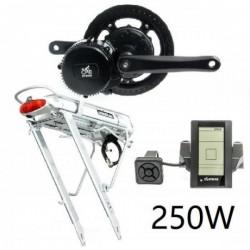 EV Bike středový pohon 250W/36V, baterie nosičová komplet sada
